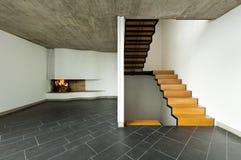drewniany izbowy kominka schody zdjęcie royalty free