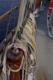 Drewniany jachtu element Fotografia Royalty Free