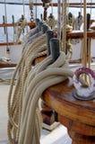 Drewniany jachtu element Zdjęcia Stock