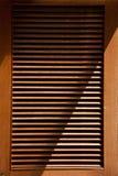 Drewniany jalousie drzwi Zdjęcie Stock
