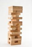 Drewniany jenga zdjęcia stock