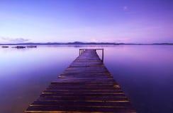 Drewniany jetty Zdjęcie Stock