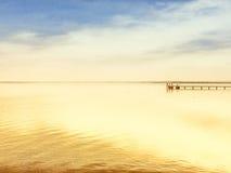 Drewniany jetty Obrazy Royalty Free