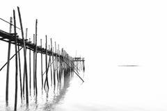 Drewniany jetty dla rybaka Fotografia Stock
