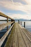 Drewniany jetty 252 jeziora chiemsee Obraz Stock