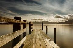 Drewniany jetty 246 jeziora chiemsee Obraz Stock