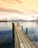 Drewniany jetty 254 jeziora chiemsee Zdjęcie Stock