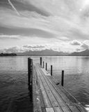 Drewniany jetty jeziora chiemsee Obraz Stock