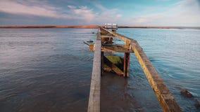 Drewniany jetty wyspa zbiory