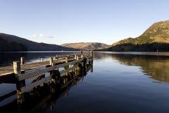drewniany jeziorny molo obrazy royalty free