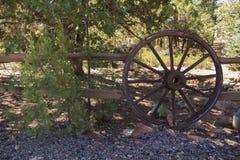Drewniany Kareciany koło Fotografia Stock