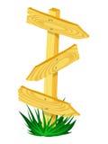 Drewniany kierunku znak Obrazy Royalty Free