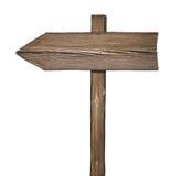 Drewniany kierunku znak odizolowywający na bielu Fotografia Stock