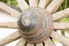 Drewniany koło buckboard lub fura zdjęcia royalty free