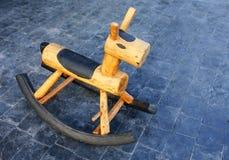 Drewniany kołysa koń Zdjęcie Stock