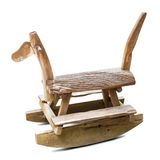 Drewniany koń kołysa ławkę Zdjęcia Stock