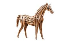 Drewniany koń, Odizolowywający Zdjęcia Stock