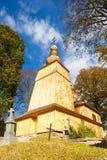 Drewniany kościół, Hunkovce fotografia stock