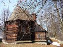 Drewniany kościół, krajobrazowy Jeseniky, republika czech, Europa Fotografia Stock