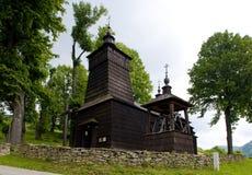 drewniany kościół, Leluchow, Polska zdjęcie stock