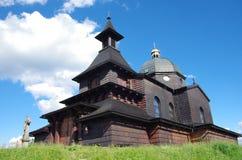 Drewniany kościół na górze obraz stock