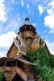 Drewniany kościół - próbka Rosyjska drewniana architektura zdjęcie royalty free