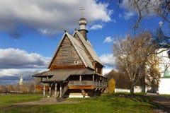 Drewniany kościół St. Nicholas i Suzdal Kremlin. zdjęcie royalty free