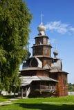 Drewniany kościół transfiguracja w Suzdal muzeum, Rosja fotografia royalty free