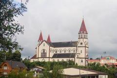 Drewniany kościół w Puerto varas, Chile obraz royalty free
