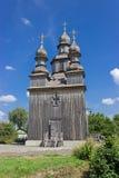 Drewniany kościół w Sednev, Ukraina Fotografia Stock