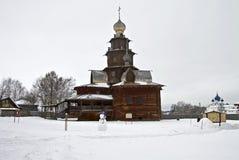 Drewniany kościół w Suzdal muzeum. fotografia royalty free
