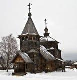 Drewniany kościół w Suzdal muzeum. obrazy stock