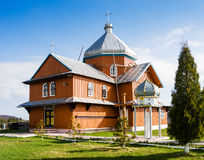 Drewniany kościół w Syanki Transcarpathia Ukraina Fotografia Stock