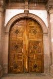 Drewniany kościelny drzwi Obrazy Stock