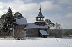 drewniany kościelny Karelia Obraz Royalty Free