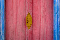 Drewniany kościelny okno Zdjęcie Royalty Free