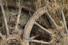 Drewniany koło Obraz Royalty Free