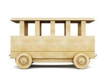 Drewniany kolejowy samochód 3d ilustracja wektor