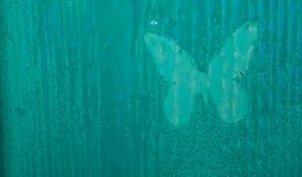 Drewniany kolorowy tło z motylami Tło Zdjęcie Stock