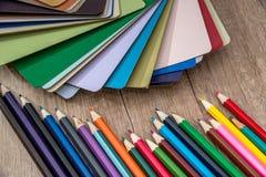 Drewniany koloru przewdonik Fotografia Royalty Free