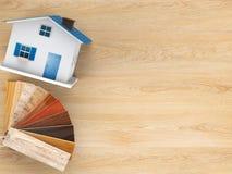 Drewniany koloru przewdonik dla domowej dekoraci Zdjęcie Stock