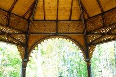Drewniany kolumnada punkt zwrotny fotografia stock