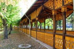 Drewniany kolumnada punkt zwrotny zdjęcie stock