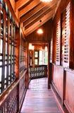 Drewniany korytarz Obrazy Stock
