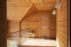 Drewniany korytarza wnętrze Zdjęcie Stock