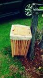 Drewniany kosz Fotografia Royalty Free