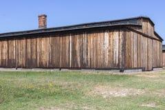 Drewniany koszary koncentracyjny obóz zdjęcia royalty free