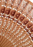 drewniany krańcowy zbliżenia fan Obraz Stock