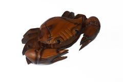 Drewniany krab Obrazy Royalty Free
