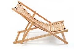 Drewniany krzesło bryczki hol na białym tle fotografia royalty free